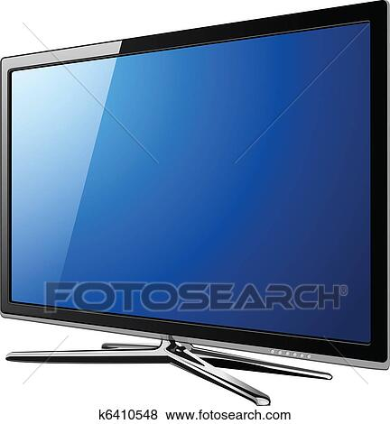 Clip Art of Modern TV lcd k6410548 - Search Clipart, Illustration ...