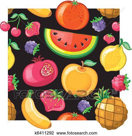 Clipart seamless succoso frutta texture k6411292 for Clipart frutta