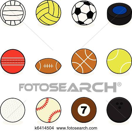 Clipart of Sports balls k6414504 - Search Clip Art, Illustration ...