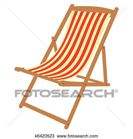 Sonnenliege clipart  Clipart of deckchair k6423523 - Search Clip Art, Illustration ...