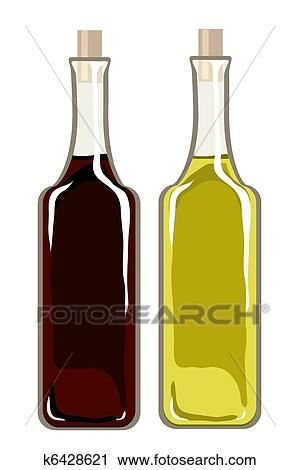 Clipart of Olive oil and balsamic vinegar k6428621 - Search Clip ...