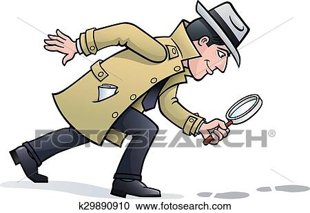 clipart of sleuth looking for clues k29890910 search clip art rh fotosearch com Relax Clip Art No Stress Clip Art
