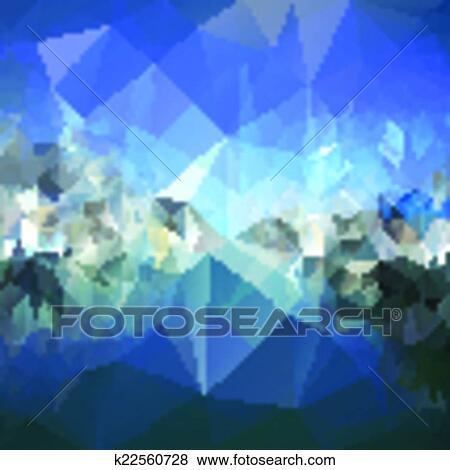 Clip art coloreado resumen fondo monta as y mar for Minimal art resumen