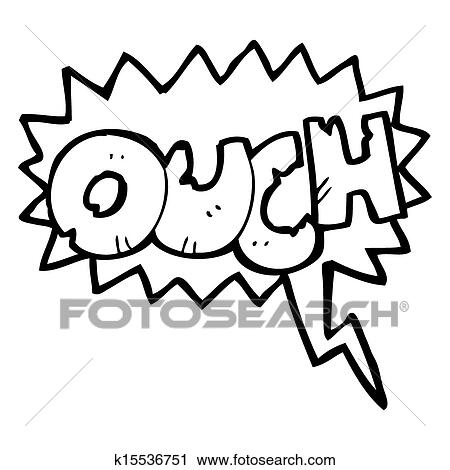 Clipart of ouch comic book symbol k15536751 - Search Clip Art ...