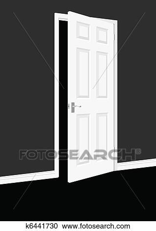 Clipart porte ouverte k6441730 recherchez des clip for Porte ouverte dessin