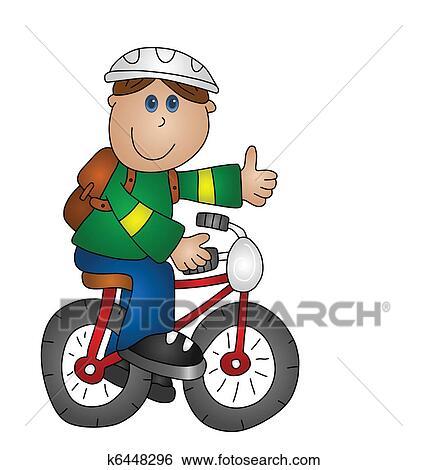 Clipart gar on bicyclette k6448296 recherchez des - Dessin bicyclette ...