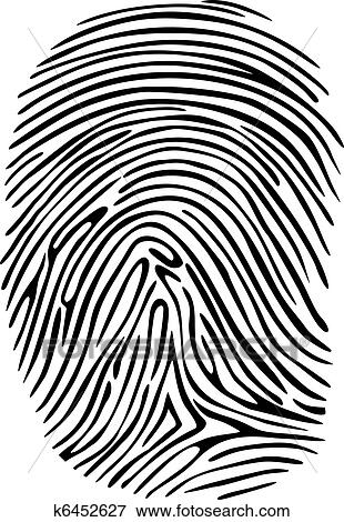 Clip Art of Fingerprint k6452627 - Search Clipart, Illustration ...