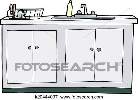 Clip Art of Isolated Kitchen Sink k20444097 - Search Clipart ...