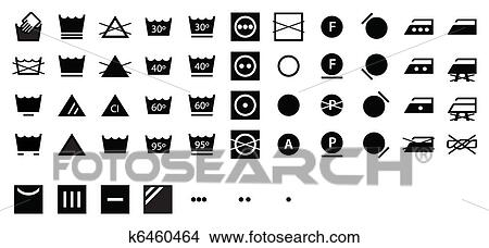 clipart complet lessive symboles sombre k6460464 recherchez des clip arts des. Black Bedroom Furniture Sets. Home Design Ideas