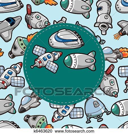 剪贴画 - 卡通漫画, 宇宙飞船, 卡片图片