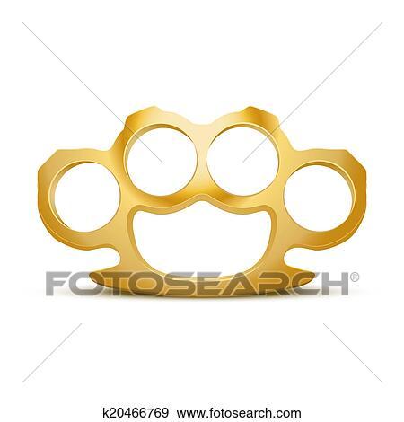 Brass knuckle vector