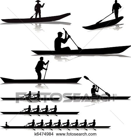Clipart of Various river rowers k6474984 - Search Clip Art ...