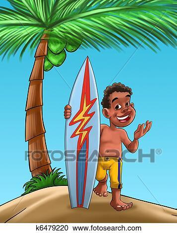 Galleria di illustrazioni ragazzo con tavola da surf - Tipi di tavole da surf ...