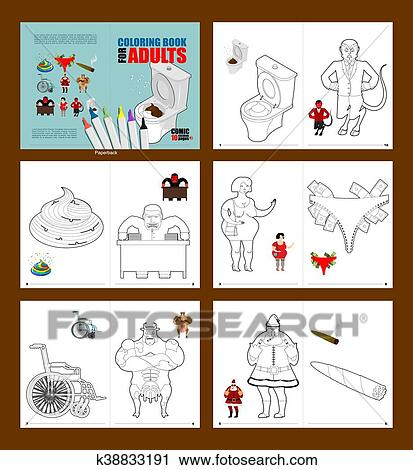 Clipart of Crazy Coloring book for adults. illustrations for ...