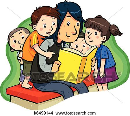 Clipart Of Book Reading K6499144 Search Clip Art