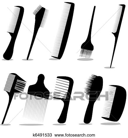 clipart of collection beauty hair salon or barber comb vector rh fotosearch com beauty salon clipart free beauty salon clipart images
