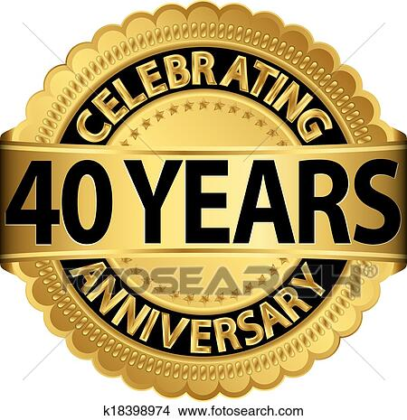 Celebrating 40 Years Clip Art