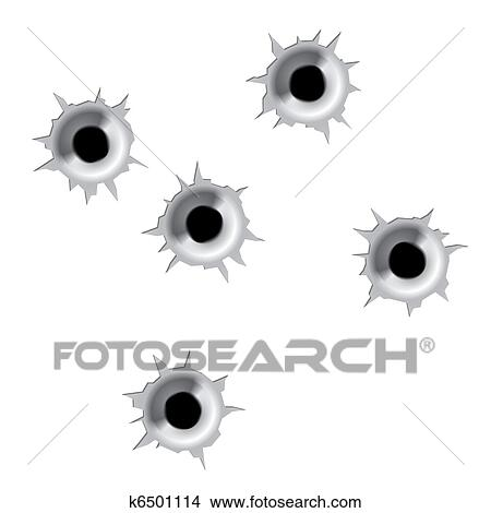 clipart of bullet holes k6501114 search clip art illustration rh fotosearch com bullet hole clip art free Bullet Hole Black and White