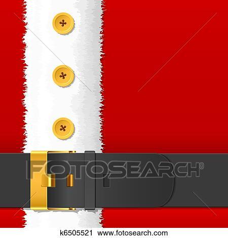 clipart santa claus costume with belt fotosearch search clip art illustration murals - Santa Claus Belt