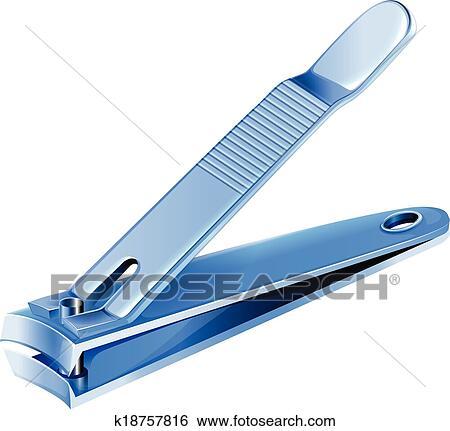 Clip Art of A blue nail clipper k18757816 - Search Clipart ...