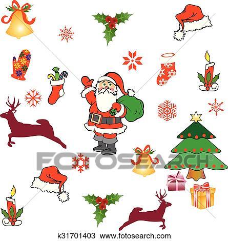 剪贴画 - 高兴的新年, object,merry, christm图片