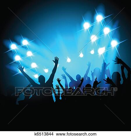 Clipart of People at a Concert k6513844 - Search Clip Art ...
