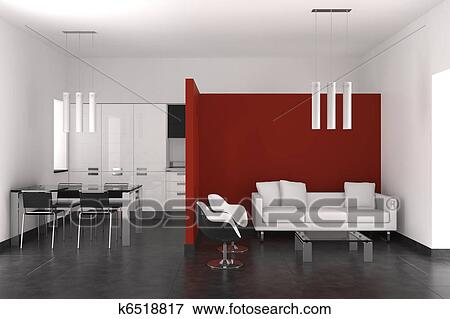 Banque d 39 illustrations moderne int rieur salle de for Recherche salle a manger moderne