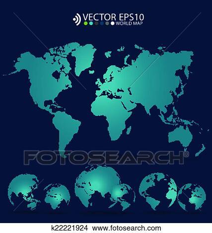 Clipart of modern world map design vector illustration k22221924 modern world map design vector illustration gumiabroncs Gallery
