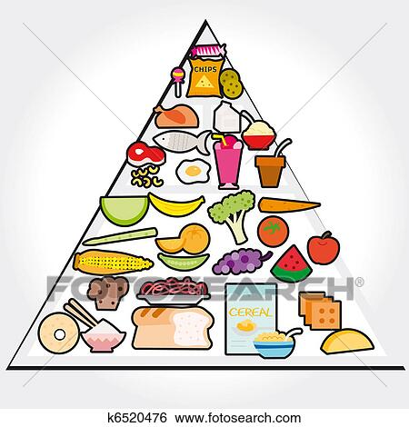 stock illustration of vector food guide pyramid k6520476 food pyramid clip art simple food pyramid clip art simple