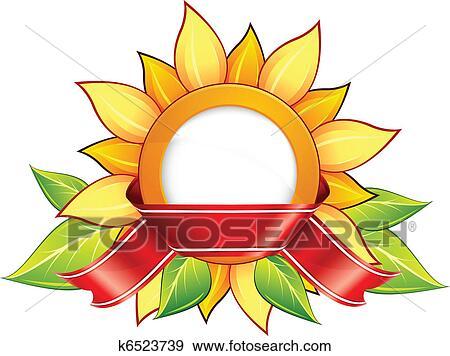 剪贴画 向日葵, , 带子