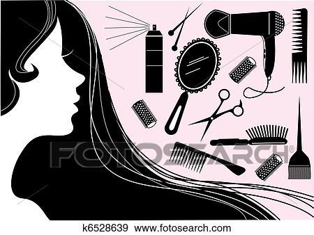 Clip Art Of Hair Style Beauty Element Vector Salon