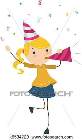Clipart Of Party Horn K6534720