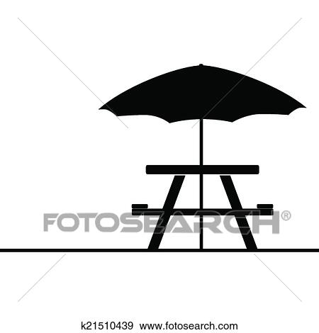clip art of camping and picnic table icon vector k21510439 search rh fotosearch com picnic table clipart black and white picnic table with food clipart