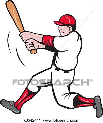 Clipart of baseball player batting cartoon k6542441 - Search Clip ...