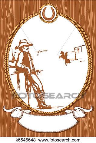 vetorial boiadeiro cartaz fundo para desenho   corda quadro