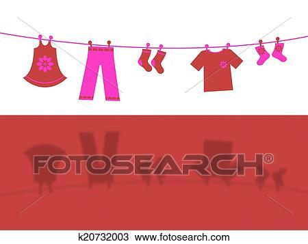 手绘图 - 衣服线, 代表