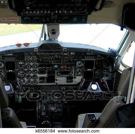 Stock photo of airplane cockpit k6556184 search stock for Cockpit wall mural