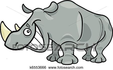 clip art of rhinoceros k6553666 search clipart illustration rh fotosearch com rhinoceros clipart black and white Tiger Clip Art