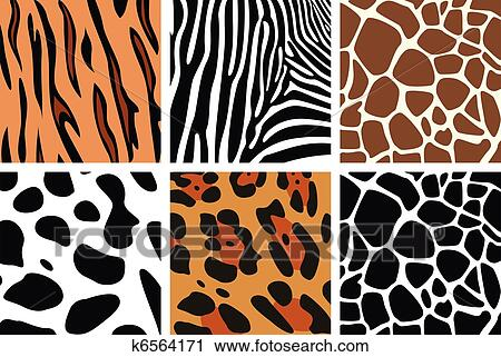 Clipart of animal skin textures k6564171 - Search Clip Art ...