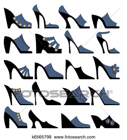 Perfect High Heel Shoes Women Fashion Clip Art Vector Free Tattoo  ClipArt