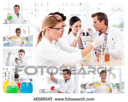 banque de photo collage de plusieurs scientifiques faire exp riences k6566543. Black Bedroom Furniture Sets. Home Design Ideas