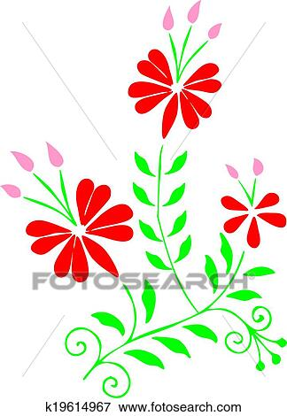Clip Art Of Hungarian Embroidery Design K19614967 Search Clipart