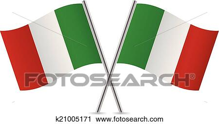 clipart of italian flags vector illustration k21005171 search rh fotosearch com waving italian flag clipart italian flag banner clipart