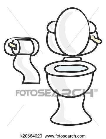 Clipart Of White Toilet K20564020 Search Clip Art Illustration Murals Dra