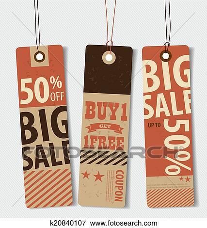 Vintage price tag design