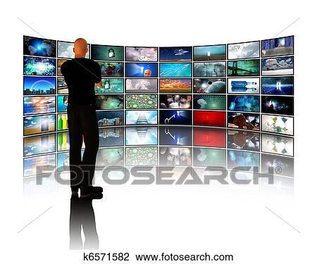 Banque de Photo - homme, examen, vidéo, affichages. Fotosearch ...