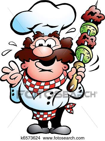 Clipart Chiche Kebab Chef Cuistot A Chiche Kebab