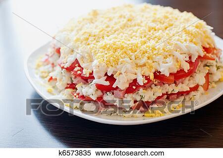 салат с ветчиной и сыром рецепт с фото