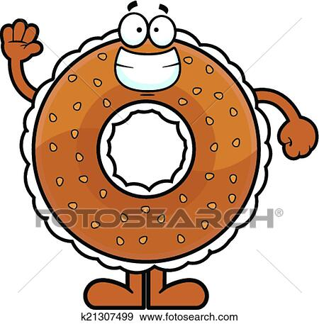 Cartoon Bagel Clipart Clip Art Cartoon Bagel