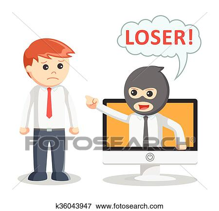 clipart cyber bullying attack clip cyberbullying mobbing fotosearch angriff intimider attaque drawings posters search illustration csp659 illustrationen eps
